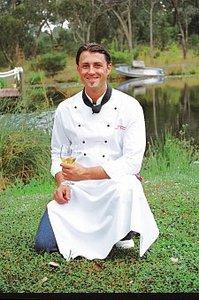 Chef in garden