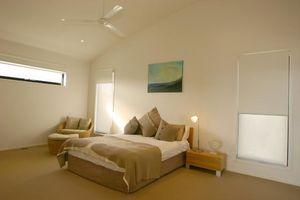 Deluxe master bedroom with parents' retreat.