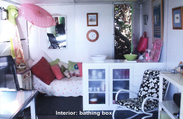 Bathing box interior