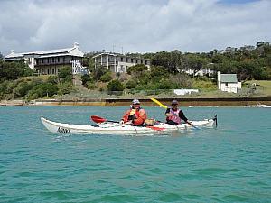 Kayaking duo at Sorrento