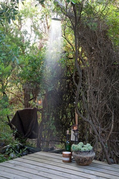 Sparkling refreshing African bush shower